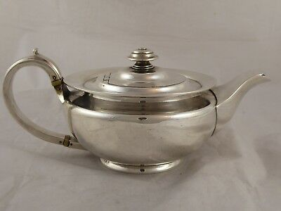 SUPERB QUALITY HEAVY SOLID STERLING SILVER GEORGIAN STYLE TEAPOT 1915 744 g