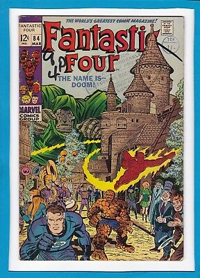 Fantastic Four #84_March 1969_Very Good Minus_Doctor Doom_Silver Age Marvel!
