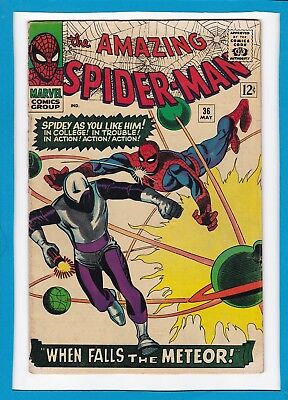 Amazing Spider-Man #36_May 1966_Very Good+_Silver Age Marvel_Steve Ditko!
