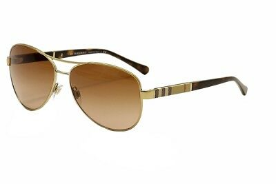 11e2b85bcc0 Burberry B3080 B 3080 1145 13 Light Gold Brown Fashion Pilot Sunglasses 59mm