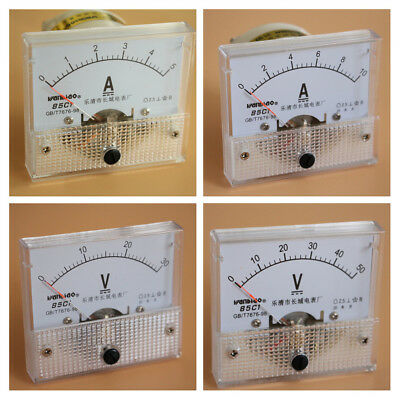 Analog Panel Ammeter Current Voltmeter Gauge DC0-30mA/5A/10A/0-30V/50V Class 2.5