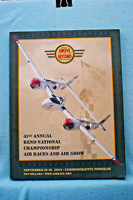 41st Annual Reno National Championship Air Races and Air Show Program 2004