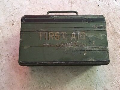 Vintage First Aid Kit Metal Box Bell Systems Co!