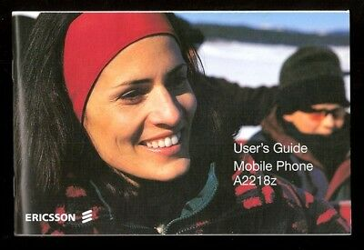 2000 ERICSSON A2218z Mobile, Cell Phone Manual, Users Guide