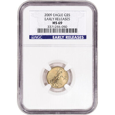 2009 American Gold Eagle 1/10 oz $5 - NGC MS69 Early Releases