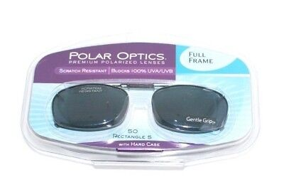 01d088706fcb8 POLAR OPTICS POLARIZED Clip On Lenses 50 rec 5 New in Case -  6.30 ...