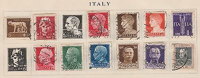 ITALY COLLECTION , Julius Caesar, Augustus, etc on Old Pages, as per scan #