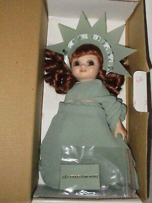 "Marie Osmond doll- Adora Belle ""Let Freedom Ring"" MIB 8"" vinyl,Statue Of Liberty"