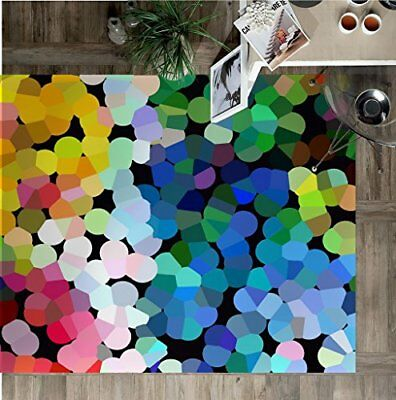 Vilber New Look Dots Alfombra, Vinilo, Multicolor, 75x120x0.2cm