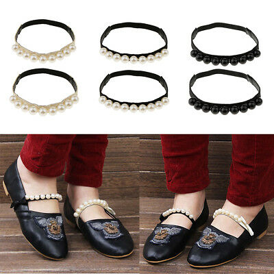 Detachable Leather Shoe Straps Band Holding Loose High Heeled Shoes Charm