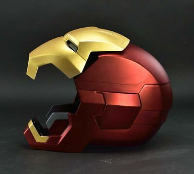 Cool 1:1 Replica Full metal Iron Man MK42 with LED eye Helmet Remote Control