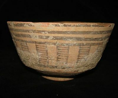 EBAY BEST!   ANCIENT PAINTED TERRACOTTA BOWL 5000 years old! 3000BC~~~no reserve