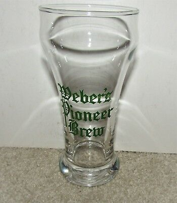 WEBER'S PIONEER BREW 1940's sham glass THERESA, WISCONSIN