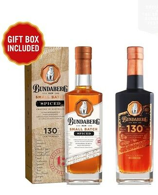 No 862 BUNDABERG RUM 130TH BIRTHDAY ANNIVERSARY SET SMALL BATCH SPICED BUNDLE
