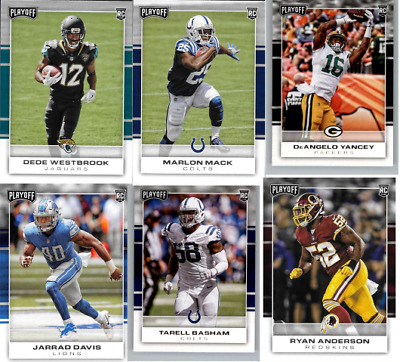 2017 Panini Playoff Football - Rookie Cards - Choose From RC Card #'s 201-300