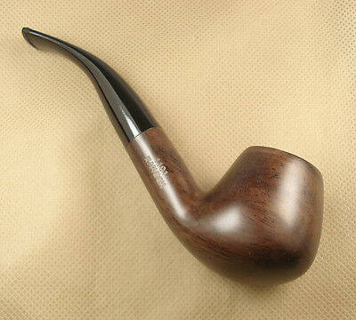 High Quality Dark Brown Ebony Wood Tobacco Smoking Pipes Fits 9mm filter #1191