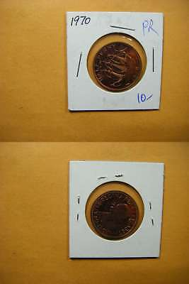 7401 GB 1970 1/2 Penny Proof
