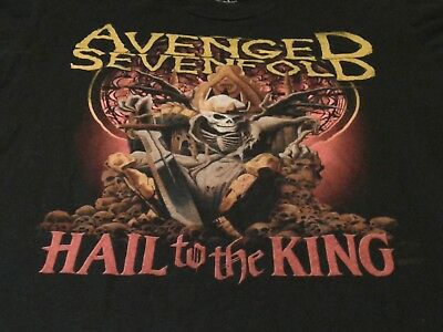 Avenged Sevenfold heavy metal band Hail to the king black T-Shirt size L? skull