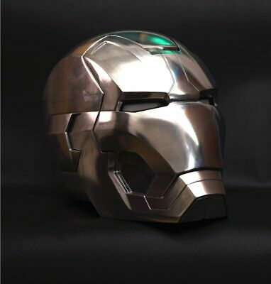 Cool 1:1 Replica Full metal Polished Iron Man MK42 LED eye Helmet Remote Control