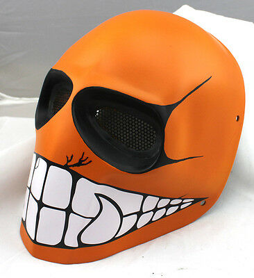 New Orange Big Mouth Fiberglass Resin Protection Mask For Paintball Airsoft