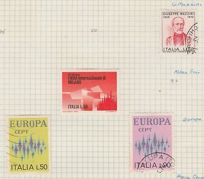 ITALY 1972 Europa, Milan Fair, etc (As Per Scan) (page folded to send)  #