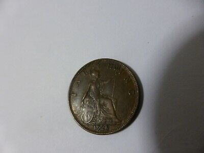 1926 Farthing With King George In Good Condition