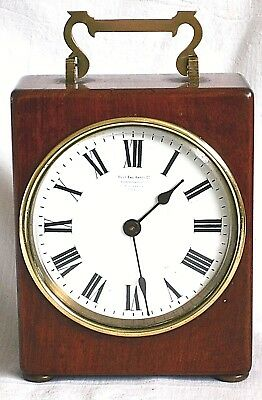 C19Th Oak Cased French Lieutenant's Carriage Clock