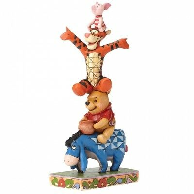 Disney Traditions Eeyore, Pooh, Tigger & Piglet- Built By Friendship 4055413 New
