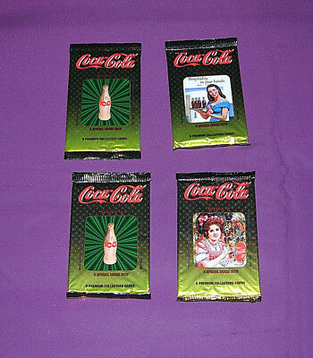 Coca-Cola Collectors Cards 4 Unopened Packages Series 4 Lot D