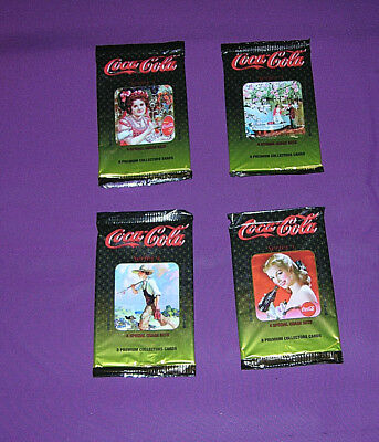 Coca-Cola Collectors Cards 4 Unopened Packages Series 4 Lot F