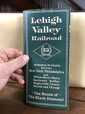 Vintage, Lehigh Valley Railroad,  system passenger time table, 1929