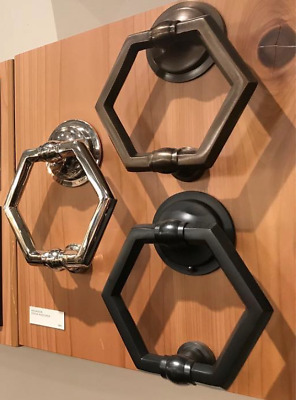 Hexagon Door Knocker - Solid Brass - Model Contemporary High Quality Oil Rubbed