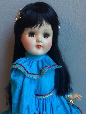 "Muy Bonita (Lovely) Ideal P93 21"" Toni Nice Doll Rewigged Pretty Dress New Shoes"