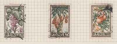 ALGERIA on Old Book Page, 1950 Fruit Trees etc USED as per scan #