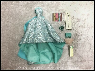 INTEGRITY TOYS EAST 59th TURQUOISE SPARKLER EVELYN OUTFIT & ACCESSORIES COMPLETE