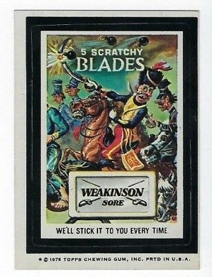 1975 Topps Wacky Packages 14th Series 14 WEAKINSON BLADES tb nm o/c