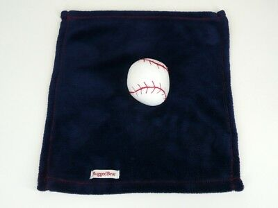 Rugged Bear Baby Blanket Security Blue Sports Baseball Lovey
