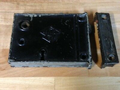 Antique Vintage Russell Erwin Mortise Lock Keeper Part