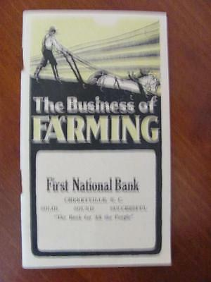 2 1900s Agriculture Farming Gardening Brochures 1st National Bank CHERRYVILLE NC