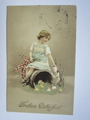 Litho:Frohes Osterfest.Gel.1914.(2802)