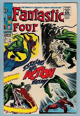 Fantastic Four # 71 Vfn- (7.5) Nice Bright & Glossy Higher Grade Us Cents Copy