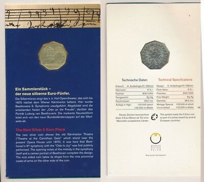 Austria: 2005 Beethoven The European Anthem €5 Silver Coin in Official Package