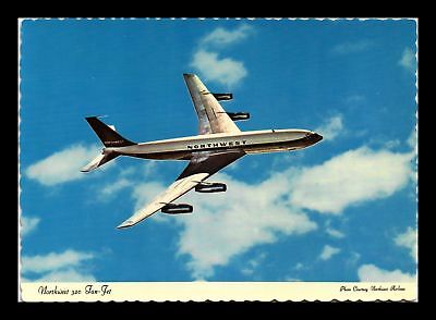Dr Jim Stamps Us Northwest Airlines 320 Fan Jet Airplane Continental Postcard