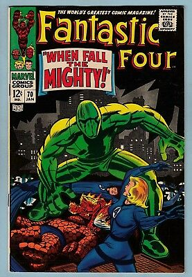 Fantastic Four # 70 Fnvf (6.5/7.0) Mad Thinker Appearance - Glossy Us Cents Copy