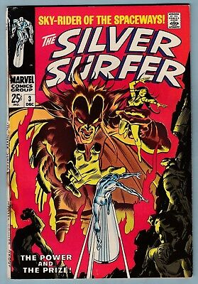 SILVER SURFER # 3 GVG (3.0) 1st MEPHISTO APPEARANCE - GLOSSY- GIANT- CENTS- KEY
