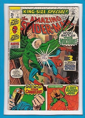Amazing Spider-Man King-Size Special #7_Dec 1970_Very Good_Vulture_Chameleon!