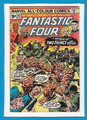 "Fantastic Four #162_September 1975_Vg_""two Things Are Deadlier Than One""_Uk!"