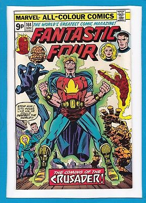 "Fantastic Four #164_Nov 1975_Near Mint Minus_""the Coming Of The Crusader""_Uk!"