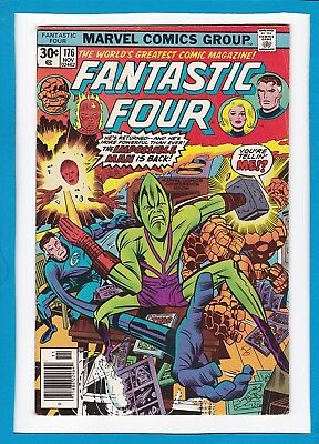 "Fantastic Four #176_November 1976_Fine+_""the Impossible Man Is Back""_Bronze Age!"