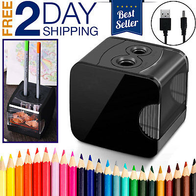 Pencil Sharpener Automatic Electric USB Battery Operated Powered Desktop Small
